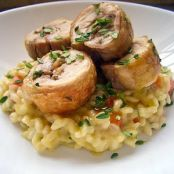 Chicken and Herbs with Carrot Orzo