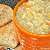 Easy Crockpot Chicken and Rice Soup