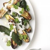 Broiled Zucchini with Yoghurt Sauce