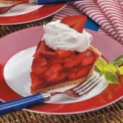 Fresh Strawberry Pie With Shortbread Crust