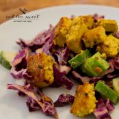 Red Cabbage Salad with Curried Tofu