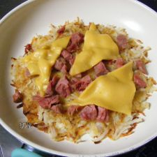 Breakfast Potatoes & Ham Skillet