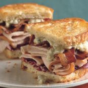 Grilled Turkey, Bacon, Radicchio, and Blue Cheese Sandwiches