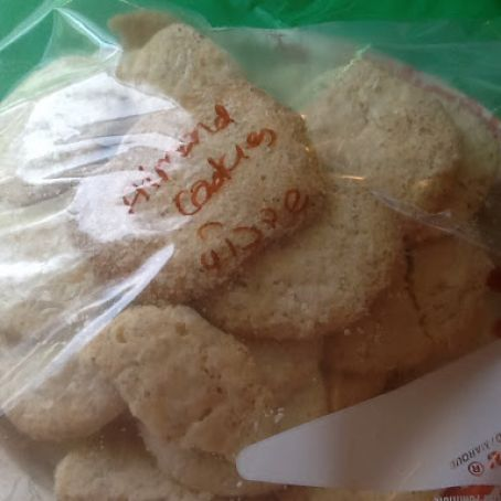 Almond Cookies (non Geb) (Pesach)