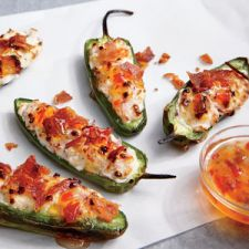 Bacon-Goat Cheese Jalapeno Poppers
