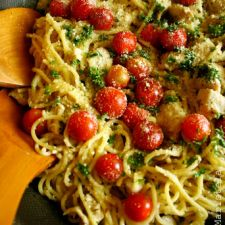 Herb Spaghetti with Lemon Chicken