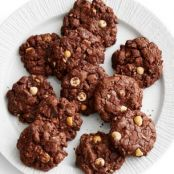 Triple Chocolate-Hazelnut Cookies