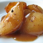 Very Spicy Caramel Pears