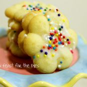 Italian Easter Cream Cheese Spritz Cookies