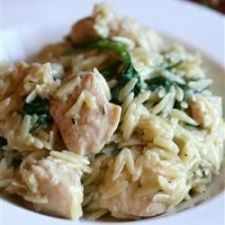 Garlic Chicken with Orzo