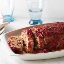 Turkey & Beef Meatloaf with Cranberry Glaze