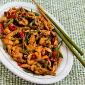 Stir Fried Turkey (or chicken) with Sugar Snap Peas and Peppers