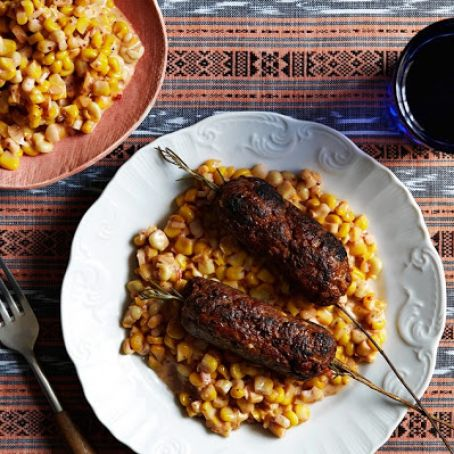 Rosemary Lamb Kofte With Creamed Corn
