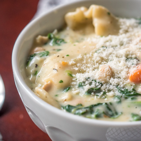 Creamy White Chicken Lasagna Soup