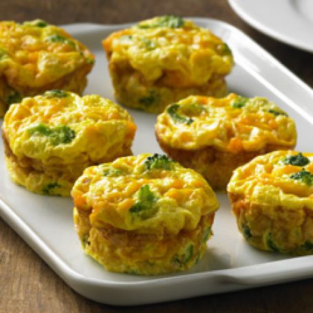 Crustless Veggie Mini Quiches Recipe 4 7 5