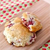 Strawberry Rhubarb Drop Scones