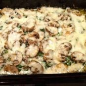 Chicken, Spinach and Mushroom Low-Carb Oven Dish