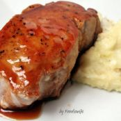 Cider Glazed Boneless Pork Loin Chops