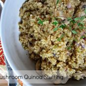 Mushroom Quinoa Stuffing (Vegan and Gluten Free)