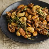 Spicy Fried Mixed Nuts