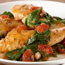 Sautéed Chicken with Spinach & Tomatoes