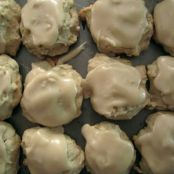 Banana cookies with brown sugar frosting