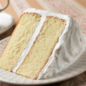 Classic White Cake with Buttercream Frosting