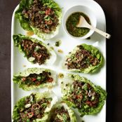 Chili Beef Lettuce Wraps