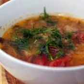 Cabbage Soup with Dill and Farro