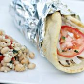 Mediterranean Bean Salad and Greek Chicken Gyros