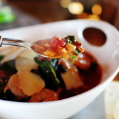 Tuscan Bean Soup with Shrimp