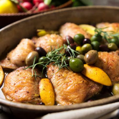 Chicken Thighs with Lemon and Olives