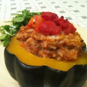 Acorn Squash Stuffed with Ground Turkey