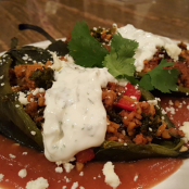 TURKEY CHORIZO STUFFED CHILI RELANOS
