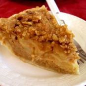Apple Custard Pie with Streusel Topping