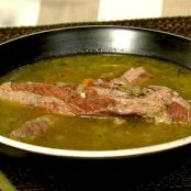 Michael Symon's Split Pea Soup with Bacon, Ham Hock & Spare Ribs