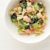 Pasta with Escarole and Shrimp