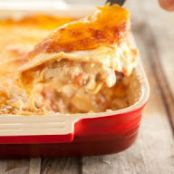 Mexican Chicken Casserole w/ cheddar cheese and tomatoes