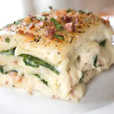 Chicken Florentine Lasagna with Bacon
