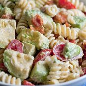 Creamy Bacon Tomato and Avocado Pasta Salad