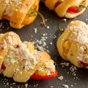 Creamy Corn Filled Sweet Peppers