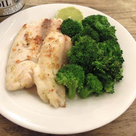Catfish with Broccoli & Herb-Butter Blend-Baked