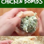 Spinach Dip Chicken Bombs