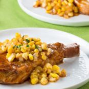 Tangy Pork Chops with Sweet Corn Relish