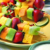 Fresh Fruit Kabobs & Poppy Seed Dip