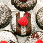 Fondants au chocolat-framboise - Raspberry-Chocolate Cakes