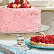 Southern Triple Decker Strawberry Cake