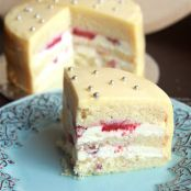 Lemon White chocolate Strawberry Layer Cake