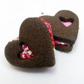 Chocolate Valentine Heart Filled Cookies