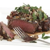 Beef Tenderloin with Roquefort-Pecan Butter